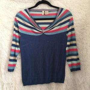 ♥️4 for &20 Anthropologie Moth Stripe Sweater Top